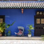 The famous indigo-blue Chinese Courtyard House in Georgetown, Penang