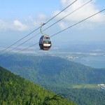 The spectacular view from our SkyCab cable car in Langkawi