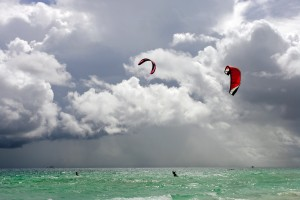 Kite surfing for the first time in Boracay.