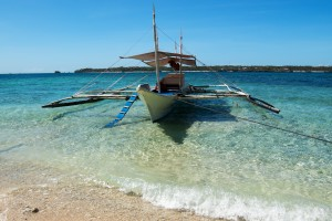 We explored the waters off Boracay on this traditional-style boat.