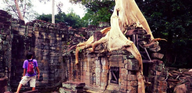 "Ta Prohm, the ""Tomb Raider"" temple."