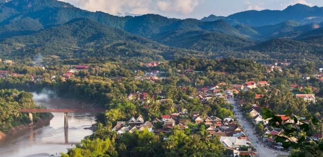 The incredible view of Luang Prabang I enjoyed from my mountain biking path.