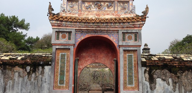 Elaborate mausoleums in Hue, Vietnam