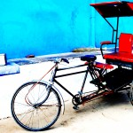 Delhi is explored best in a rickshaw.