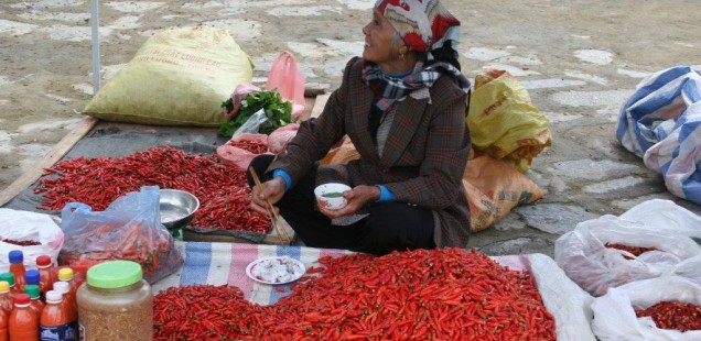 A vendor at Bac Ha Sunday market - vietnam