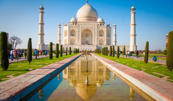 The iconic Taj Mahal is a must in India.