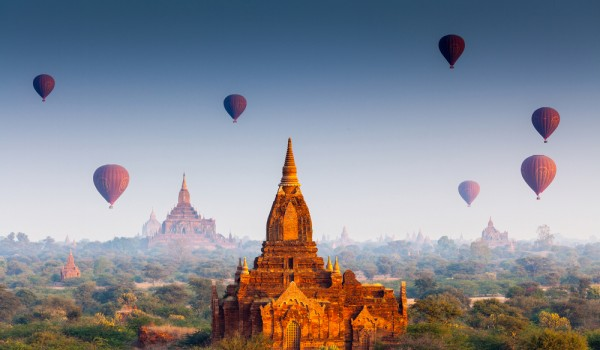 My kids loved soaring over Bagan in a balloon.