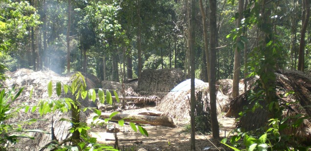 Indigenous tribal villages in Taman Negara.