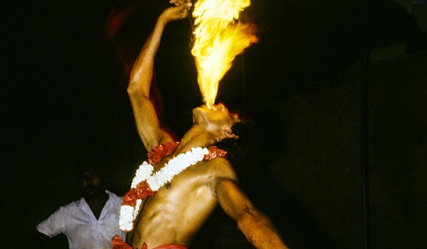 Fire-eater Kandy Perahera