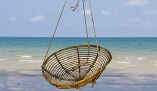 Beautiful beach in Cambodia
