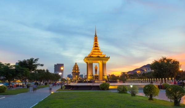 King Father Norodom Sihanouk Statue Phnom Penh Cambodia