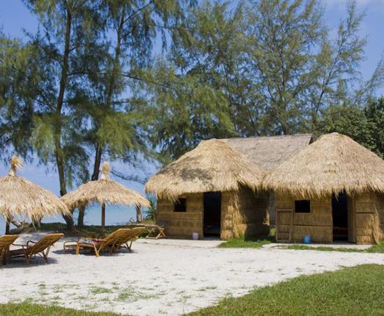 Sihanoukville beach cabanas