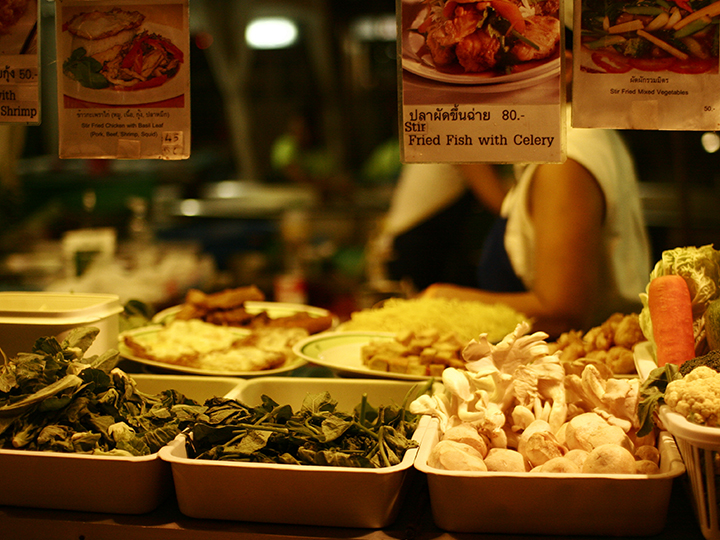 Thai street food vendor.