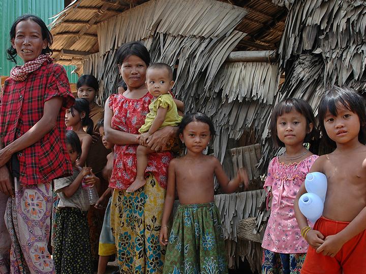cambodian family near Phnom Penh