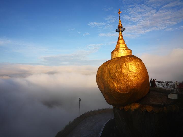 kyaiktiyo pagoda in Yangon golden rock